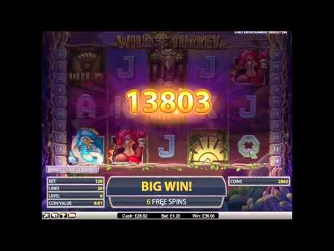 Wild Turkey Slot Super Big Win - NetEnt