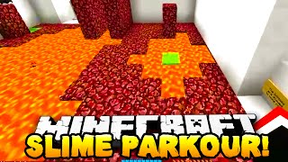 Minecraft - EPIC SLIME PARKOUR! (Deadly Parkour) - w/ Preston, Woofless&Kenny!