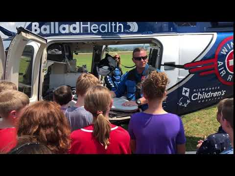 Video: Ballad Health Medical helicopter at Innovation Academy Aug. 15, 2018