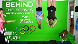 Whitney was honored to have Shawn Johnson come to visit and participate in the world's most dangerous and action-packed cooking show…Whitney's Kitchen Gymnastics!  Here is some of the behind the scenes action and bloopers from the video.Be sure to check out Shawn's videos from this day here: https://www.youtube.com/channel/UCJ15Zl-v8-ghTgEOTpxHdGwCheck out Shawn's video - Drone Gymnastics: https://www.youtube.com/watch?v=88KRtx5z2hs&t=1sCheck out Shawn's video - Gymnastics Mat Maze with Whitney Bjerken: https://www.youtube.com/watch?v=mN95_k5jz3wCheck out Shawn's video - Tutorial: Teaching Whitney Bjerken my Beam Skill: https://www.youtube.com/watch?v=ge1llGB_HmwCheck out the kids' new series – The Adventures of Gravity Gal and Quantum Qid!  https://www.youtube.com/playlist?list=PLEYe5bHOzJCgTHyvroqr3uIyCYf_K3cwxMy Official Links: Whitney's Instagramhttp://www.instagram.com/WhitneybflippinGravity Gal and Quantum Qid T-Shirtshttp://shop.spreadshirt.com/GravityGalandQuantumQid/Whitney's YouTube Channel https://www.youtube.com/c/WhitneyBjerkenWhitney's facebook https://www.facebook.com/WhitneyBjerkenWhitney's Musical.ly@whitneybflippinSterling's YouTube Channelhttps://www.youtube.com/channel/UC9xX46xoJk5t8akGmlGOQHwBraxton's YouTube Channelhttps://www.youtube.com/channel/UCfwO4mINcq46QNQDQDlHYagBlakely's YouTube Channelhttps://www.youtube.com/channel/UCaLnRk3WwZO3gxLn-JK8WlQHouston's YouTube Channelhttps://www.youtube.com/channel/UCmVoun2DI_opRem97UEBPDg💥Hey There!💥: You can help us translate this video, and get credit below! Click here: http://www.youtube.com/timedtext_cs_panel?c=UCUPfRa2JQtzWQZC7mLsr7bQ&tab=2