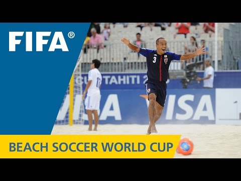 Way - Japan - Paraguay, FIFA Beach Soccer World Cup Tahiti 2013: A wild opening goal by Hirofumi Oda was the perfect start for the Japanese, who held the Paraguaya...