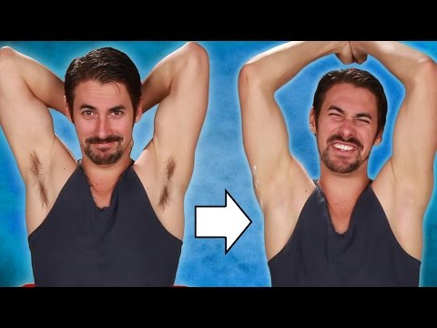Guys Shave Their Armpits For The First Time (видео)