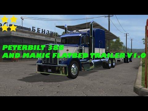 Peterbilt 388 and Manic Flatbed trailer v1.0