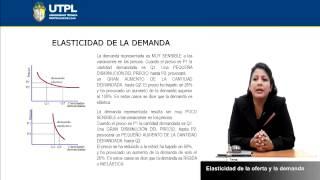 UTPL ELASTICIDAD DE LA OFERTA Y LA DEMANDA [(A. GERENCIAL Y RRPP)(INTRODUCCIÓN A LA ECONOMÍA)]