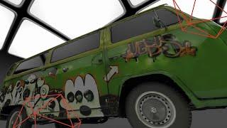 סריקת רכב עם סורק ARTEC