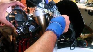7. Husqvarna 510 SMR cooling fan install (2006)