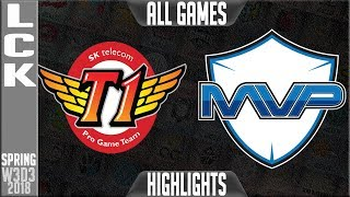 Video SKT vs MVP Highlights ALL GAMES | LCK Week 3 Spring 2018 W3D3 | SK Telecom T1 vs MVP Highlights MP3, 3GP, MP4, WEBM, AVI, FLV Juni 2018