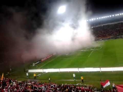 La salida del León, esta hinchada no te dejará. - La Guardia Albi Roja Sur - Independiente Santa Fe