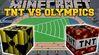 TOO MUCH TNT MOD VS TNT OLYMPICS - Minecraft Mods Vs Maps (Nukes, Meteors, TNT)