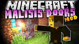 Minecraft: MALISIS DOORS! (INVISIBLE WALLS, MIXING BLOCKS) - Mod Showcase