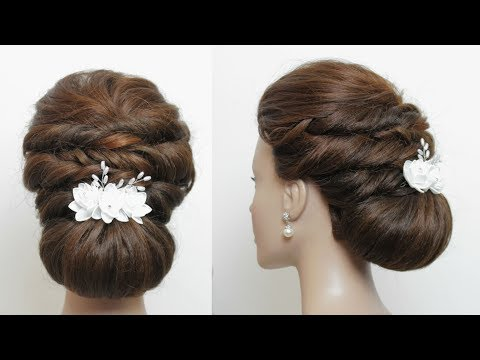 New hairstyle - Simple Low Bun For Long Hair Tutorial. Updo Hairstyles