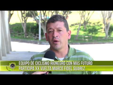 Equipo de ciclismo rionegrero en la Vuelta Marco Fidel Suárez