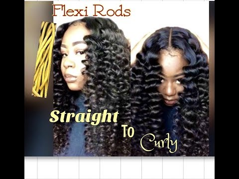 Curly hairstyles - Straight To Curly Using Flexi Rods