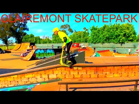 ONE DAY AT CLAIREMONT SKATEPARK !!! SCOOTER VLOG 2016 !!!
