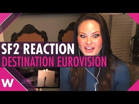 REACTION: Destination Eurovision semi-final 2 in France (American woman)
