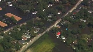 Lumberton (NC) United States  City pictures : Raw: Aerial View Shows Lumberton, NC Devastation
