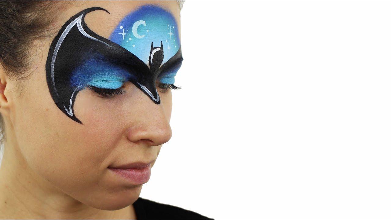 face painting batman tutorial by ashlea henson
