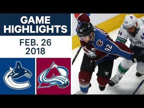 Video: NHL Game Highlights | Canucks vs. Avalanche - Feb. 26, 2018