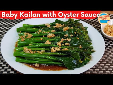 Baby Kailan with Oyster Sauce | Chinese Broccoli with Oyster Sauce Recipe