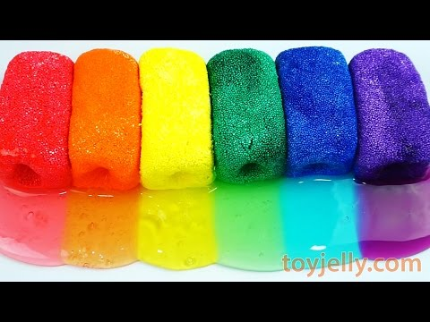 Video DIY How To Make Color Clay Slime Toy Learn Colors with Rainbow Foam Clay download in MP3, 3GP, MP4, WEBM, AVI, FLV January 2017