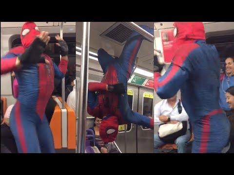 Video Hombre Araña baila Scooby Doo Pa Pa-Kulikitaka-Dura en el Metro #Viral download in MP3, 3GP, MP4, WEBM, AVI, FLV January 2017