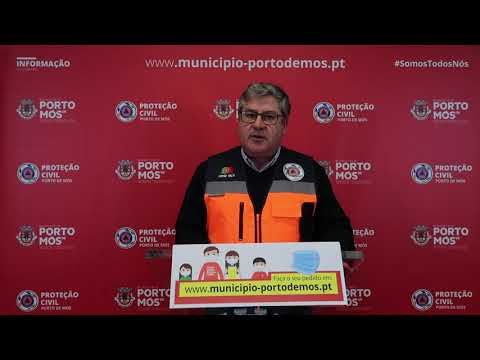 Comunicado Presidente da Câmara Municipal de Porto de Mós - COVID-19 - 23-04-2020