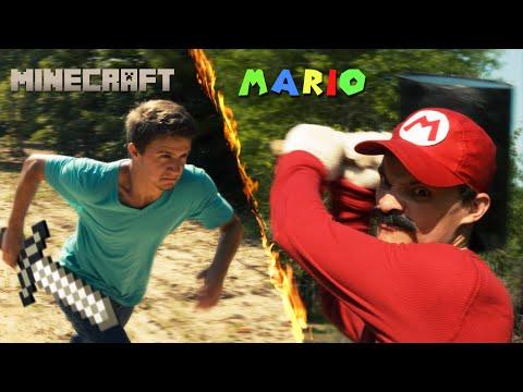 Mario vs Minecraft (видео)