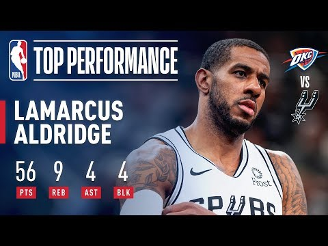 Video: LaMarcus Aldridge Records A New CAREER HIGH 56 Points | January 10, 2019