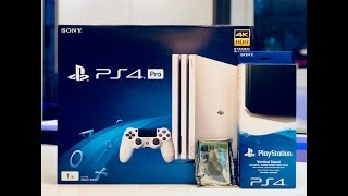 PS4 Pro Unboxing *GLACIER WHITE!!*