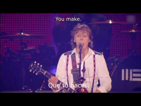 Paul McCartney - Golden Slumbers / Carry That Weight / The End (Subtitulos Español e Inglés) | 2013