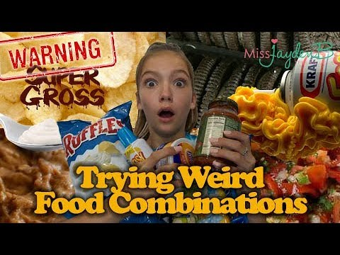 Trying weird food combinations! Warning - super gross! (видео)