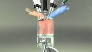 Motor cu sistem de distributie DOHC