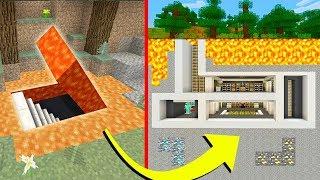 """Minecraft Tutorial: How To Make A Secret Lava Modern Underground Base """"Hidden Base Tutorial"""""""