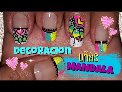 Decoracion De Unas Mandalas Mandalas Nail Art Como Hacer