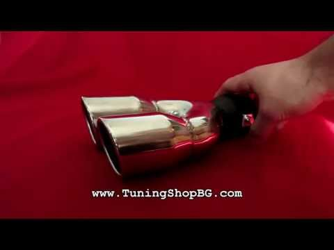 Double exhaust back tip / tile pipe decoration BMW / AUDI / VW / SEAT [TUNINGSHOPBG]