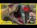 Dinosaurs n Park Rangers Face Off! Giant T-Rex Dinosaur Adventure n Jurassic World Surprise Toys