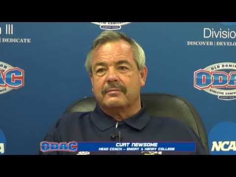 Head Football Coach Curt Newsome at 2014 ODAC Media Day