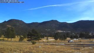 2013-12-31 - Estes Park 18 Hole Golf Course Time-Lapse