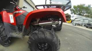 1. 2007 Arctic cat 700 efi HMF exhaust very loud