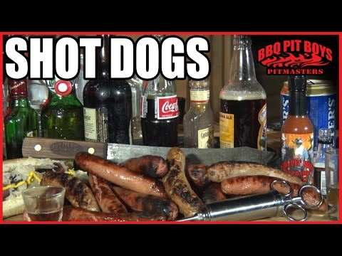 dogs - Forget about cooking up the same 'ol grilled Hot Dogs. Getting boring, right? Make 'em BBQ Pit Boys Shot Dogs this time. The visitors to your Pit will give you the thumbs-up for sure. So...