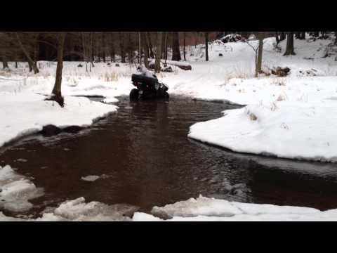 TGB brod vodou (led a sníh)