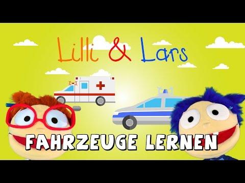 FAHRZEUGE lernen für KLEINKINDER - ZAHLEN BIS 10 LERNEN - LERNVIDEO mit LILLI und LARS (видео)