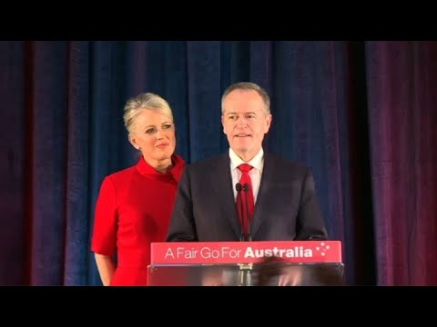 Australia's Labour Party Leader Shorten Announces Election Loss