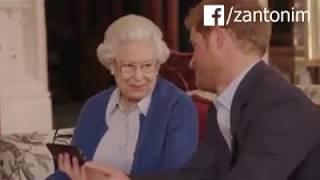 Duda zaorany przez królową Elżbietę i księcia Harrego! Koniecznie z dźwiękiem!