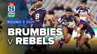 Brumbies v Rebels Rd.3 2021 Super rugby AU video highlights | Super Rugby Video
