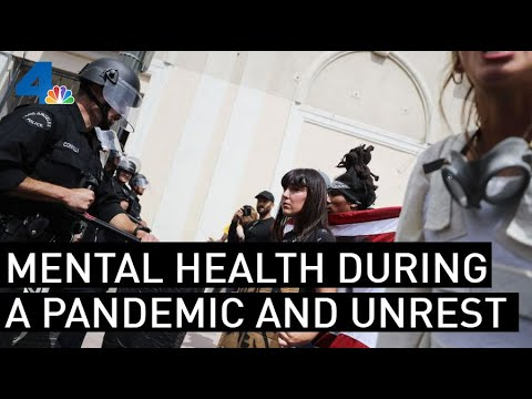 Doctor Says 'Tune Out' Mental Health Amid Pandemic and Unrest | NBCLA видео