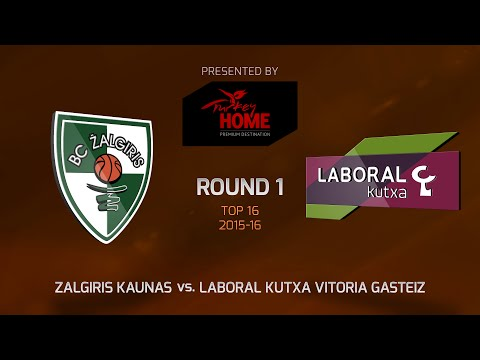 Highlights: Top 16, Round 1, Zalgiris Kaunas 68-89 Laboral Kutxa Vitoria Gasteiz