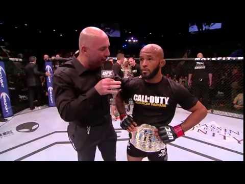 UFC 178%3A Demetrious Johnson Octagon Interview
