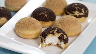 Choux au Craquelin - Crispy Cream Puffs by Home Cooking Adventure
