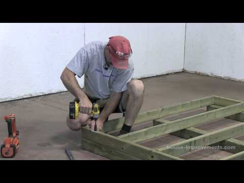 build - Shannon from http://www.house-improvements.com/shed shows you how to build a shed from start to finish. This episode shows you how to construct the base. See...